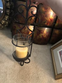 black and brown metal candle holder BOWIE