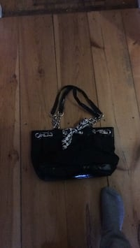 black and white leather crossbody bag Dieppe, E1A 2J5