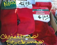 New Christmas stockings $1 each 5 for $5 Crest Hill, 60403