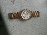 Rose gold Michael khors watch