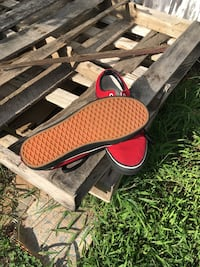 Black and red vans custom made Dover, 19901