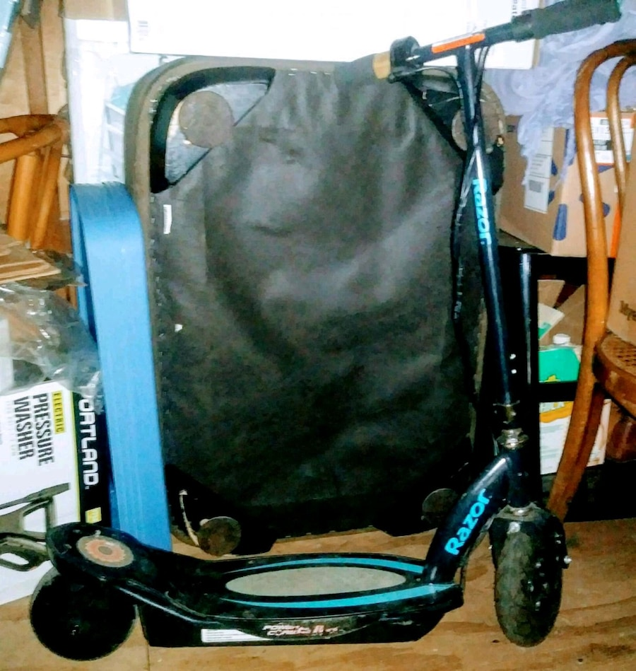 Used, black and blue bicycle trailer for sale  Porter