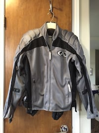 Motorcycle  Gray and black zip-up jacket Glendale
