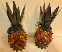two red and brown ceramic vases null