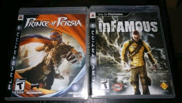 Prince of Persia and Infamous PS3