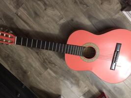Red and black classical guitar