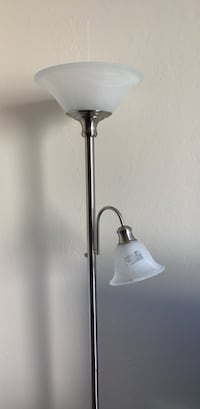 stainless steel and white torchiere lamp South San Francisco, 94080