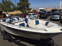 white and blue speed boat Fresno, 93730