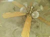 two brown wooden ceiling fans Kearns, 84118