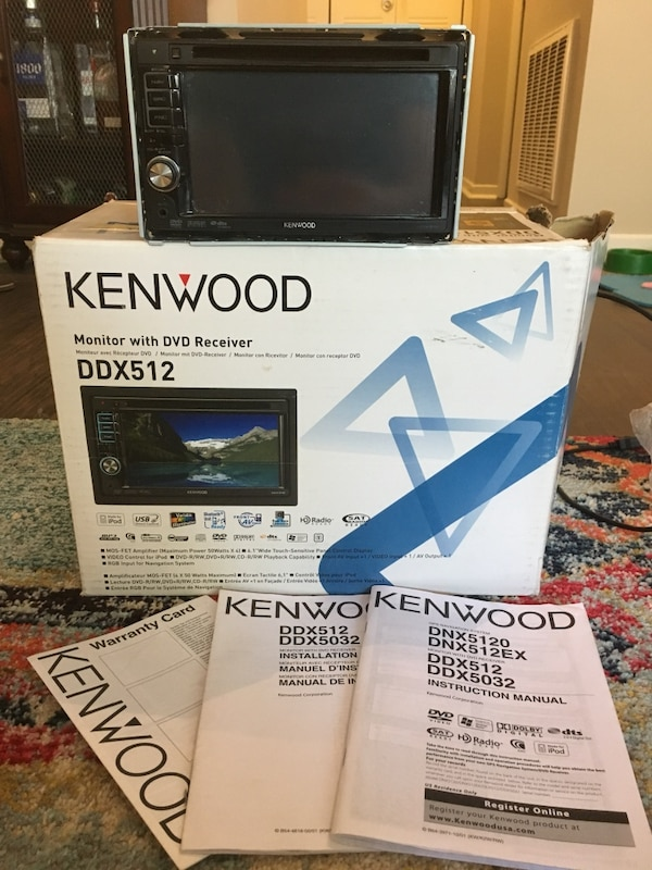 Kenwood DDX512 Monitor with DVD Receiver on