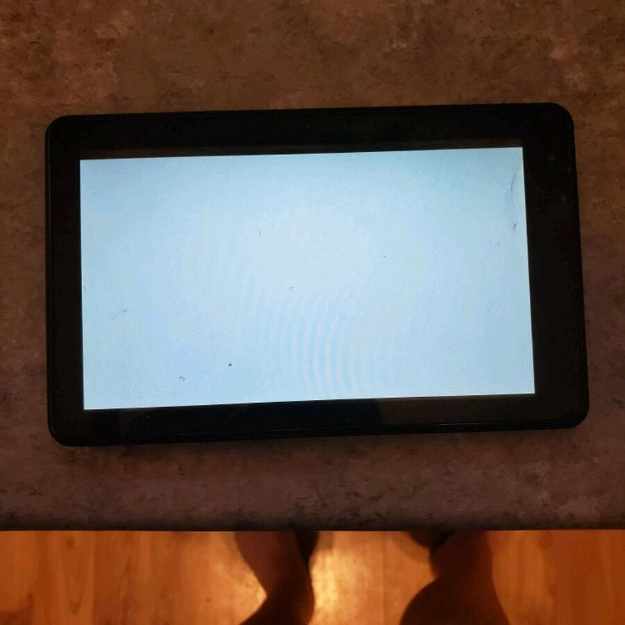 rca tablet with white screen