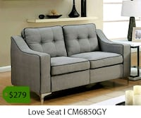 gray fabric 2-seat sofa 2261 mi
