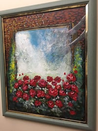 Out side Roses canvas painting frames Englewood, 07631