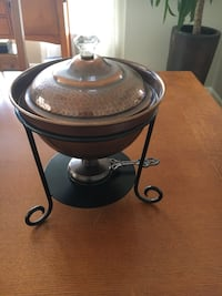 Vintage copper chafing dish Sterling, 20165