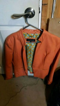 Ladies leather jacket medium