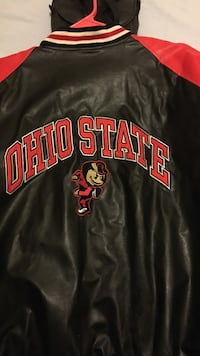 black and red Ohio State leather jacket Thornville, 43076