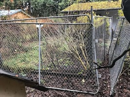 Chain link fence/gate