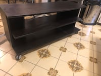Black mini tv stand with wheels Toronto, M6H 3L7