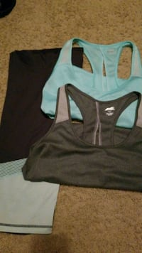 Gray and light blue workout clothes 1292 mi