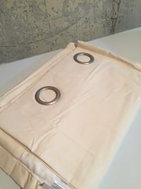 One brand new cream curtain with grommet panel Whitby, L1N 2J2