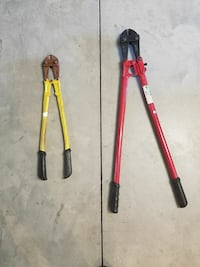 Yellow and Red bolt cutters