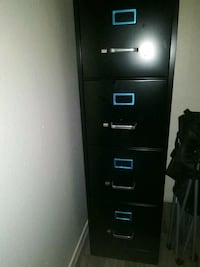 4 drawer filing cabinet with key