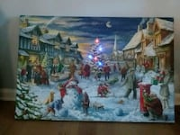Large light up canvas Christmas picture from kirklands Abingdon, 21009