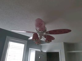 Girls Chandelier Bedroom Ceiling Fan