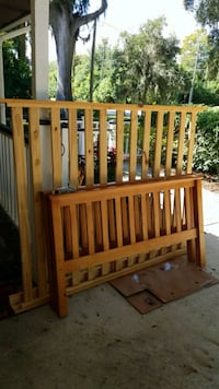 Full size Wood bed frame with mattress  Kissimmee