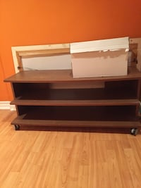 Brown Wooden T.V Stand Mississauga, L5B 4G7