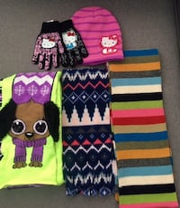 Girls scarves, hats, gloves. From Justice, hello kitty & old navy Falls Church, 22041