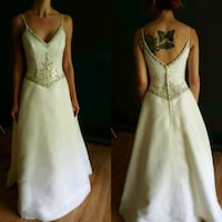 Beaded Bodice Chiffon A-line Wedding Dress Tampa
