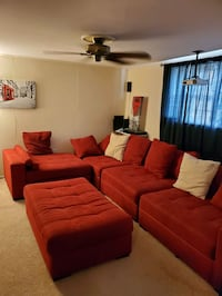 Huge Red Sectional Couch Woodbridge