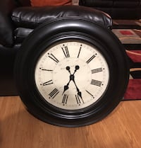 Large Round Black Wall Clock Rockville, 20851