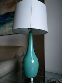 teal and white table lamp Arlington, 22202