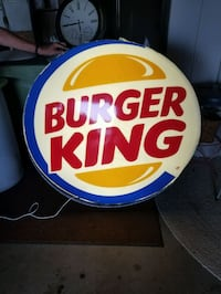 Large 4ft Burger King Sign Knoxville