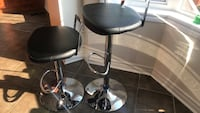 Bar stools , perfect condition, but one of the stool keeps moving back to it highest position, but will go back now went sitting on it . Brampton, L7A 0K2