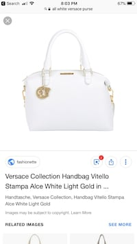 white and brown leather tote bag screenshot Mayflower, 72106