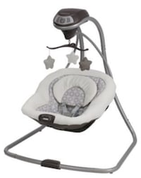 Baby's gray and white cradle n swing Palm Harbor, 34685