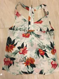 white, red, and green floral tank top Port Coquitlam