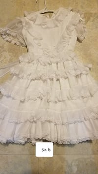 sz 6 grls lace white dress Thurmont