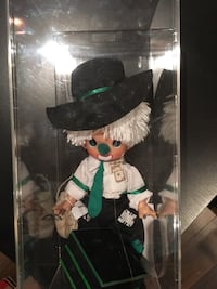 black and white dressed doll box