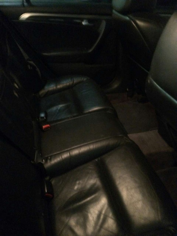 Black Leather Car Bucket Seat