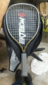 black and white Wilson tennis racket with bag Weber City, 24290