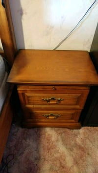 brown wooden 2-drawer nightstand Puyallup, 98375