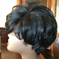 Women's black hair wig 49 km