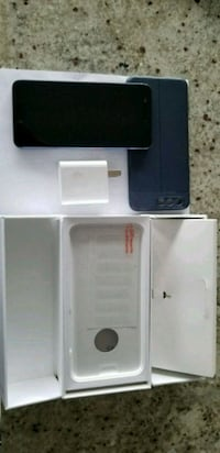 black smartphone with box