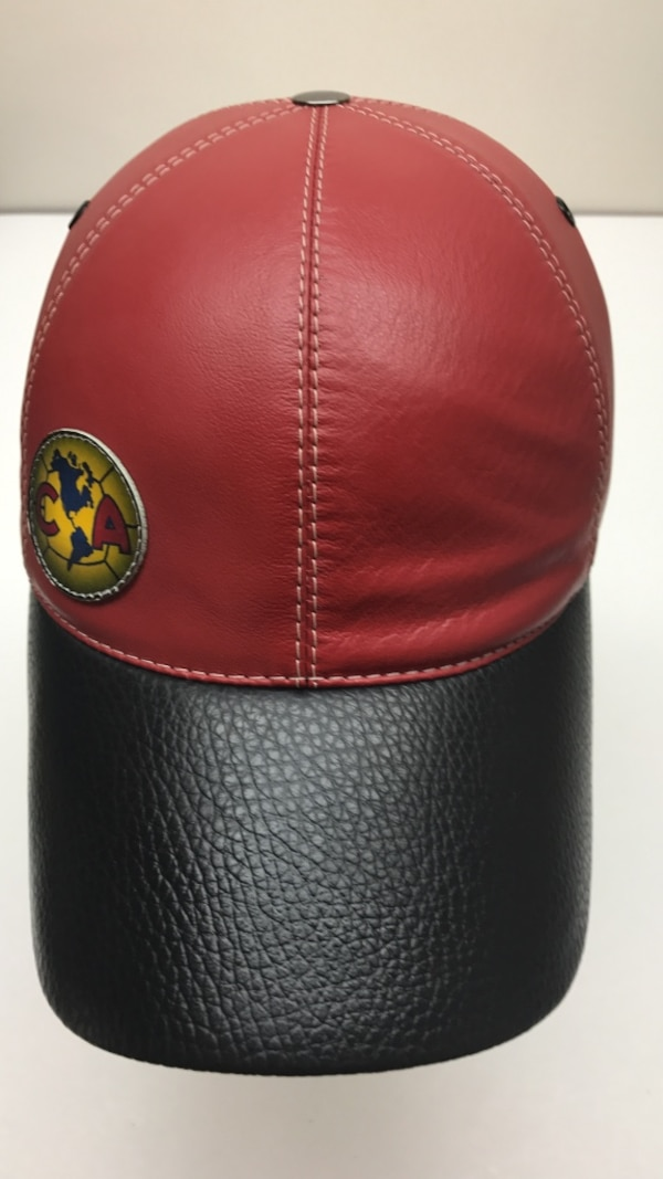 Used Black and red leather baseball cap for sale in Annandale - letgo d74a6db9c45