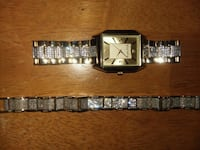 Gold and silver men's watch and bracelet Falling Waters, 25419