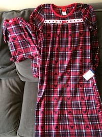 """Girls nightgown Size 10 with matching 18"""" doll dress  Claymont, 19703"""